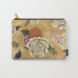Gold luxury floral Carry-All Pouch