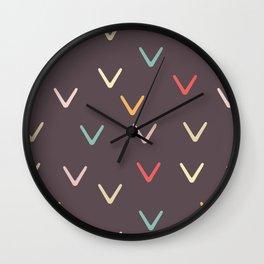 Take Flight - Abstract Arrows Dark Background Wall Clock