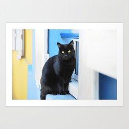 18. Between Yellow and Blue, Paris Art Print