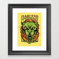 Explosive Panther Framed Art Print
