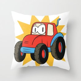 Straighteners in cartoon style Throw Pillow