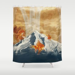 The Fish of Mt Hood Shower Curtain