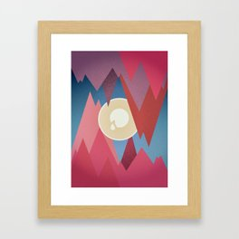 Cry. Cave Framed Art Print