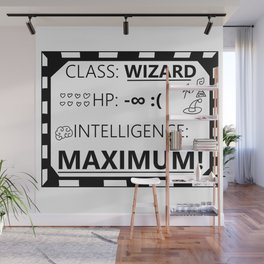 Wizarding Diploma Minus Infinity HP and Maximum Intelligence Wall Mural