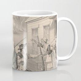 Vintage Minutemen of The Revolution Illustration (1876) Coffee Mug