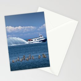 Star Line Ferry Boat going from St. Ignace to Mackinac Island Stationery Cards