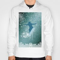 snowboarding Hoodies featuring Snowboarding by nicky2342