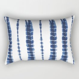 Indigo Blue Tie Dye Delight Rectangular Pillow