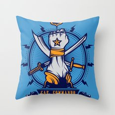 CAP. COMMANDO TEAM Throw Pillow