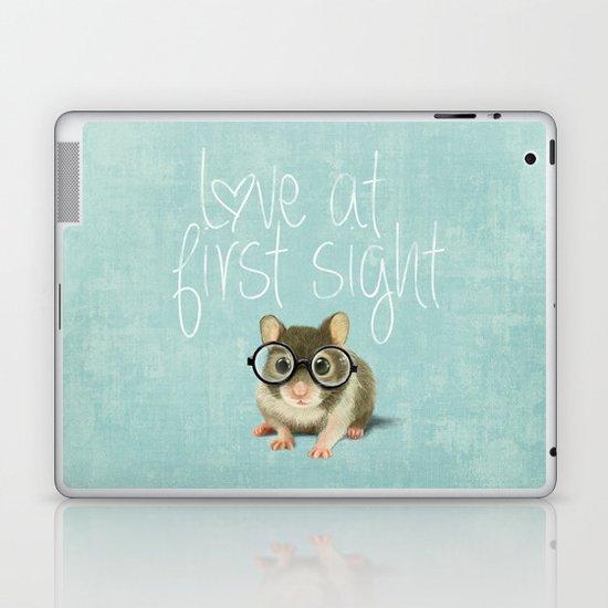 Little mouse in love Laptop & iPad Skin