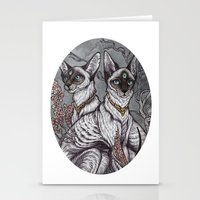 caitlin hackett Stationery Cards featuring Gift of Sight art print by Caitlin Hackett