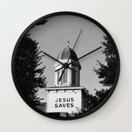 Jesus Saves Charleston Wall Clock
