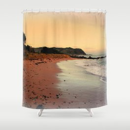 Red Sands on the Beach in Tasmania Shower Curtain