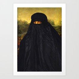 Mona Lisa Hides Her Smile Art Print