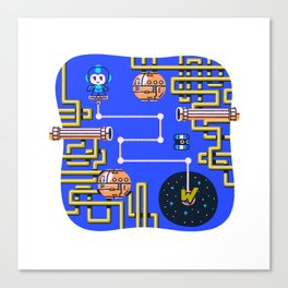 Overworld: Crash Canvas Print