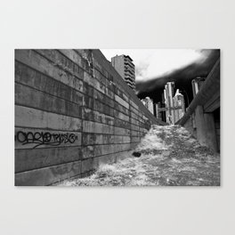 The Lonely City - graffiti alley Canvas Print