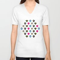 ufo V-neck T-shirts featuring Ufo by Plushedelica