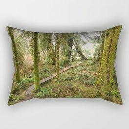 Pacific Coast Rainforest Boardwalk Rectangular Pillow