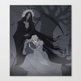 Drawlloween Grim Reaper Canvas Print