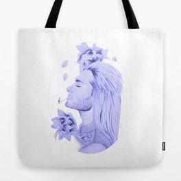 Old School Bill Kaulitz Blue Tote Bag