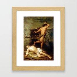 Santiago Rebull (Mexican, 1829-1902), The Death of Abel, 1851 Framed Art Print
