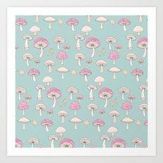 Mushrooms and Toadstools Art Print