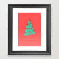 wish you a merry christmas! Framed Art Print