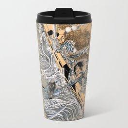 Kuniyoshi Utagawa, The ghost of Taira Tomomori, Daimotsu bay Travel Mug