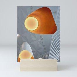 Big orange lights   Interior Photography Mini Art Print