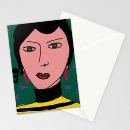 Portrait by Stefania Stationery Cards