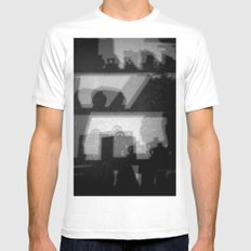 Abstract shelfs Mens Fitted Tee MEDIUM White