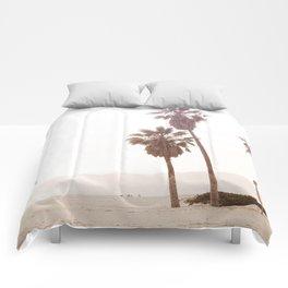Vintage Summer Palm Trees Comforters