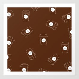 Raining Coffee Art Print