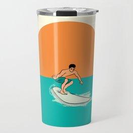 Surfer Minimal Draw Line Travel Mug