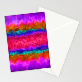 Colors on Fire Stationery Cards