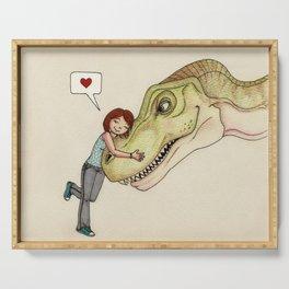I love dinosaurs Serving Tray