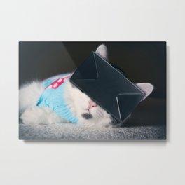 Virtual Reality Kitty Cat Metal Print