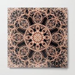 Intertwined Space Mandala Metal Print