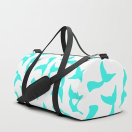 Trendy girly turquoise bright mermaid tails pattern Duffle Bag