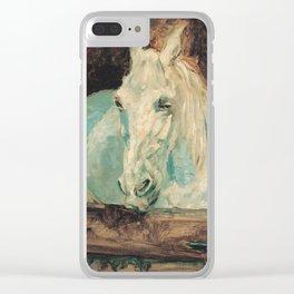 Henri De Toulouse Lautrec - The White Horse Gazelle Clear iPhone Case