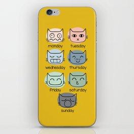 Weekly Cat iPhone Skin