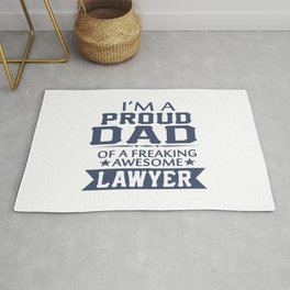 I'M A PROUD LAWYER'S DAD Rug