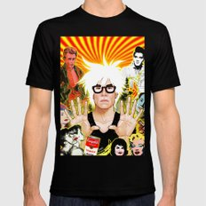 Icon (Warhol) Mens Fitted Tee Black X-LARGE