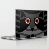 racoon Laptop & iPad Skins featuring racoon - raccoon  by ArigigiPixel