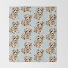 Schnoodle Pups Throw Blanket