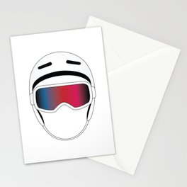 Snowboard Helmet and Goggles Stationery Cards