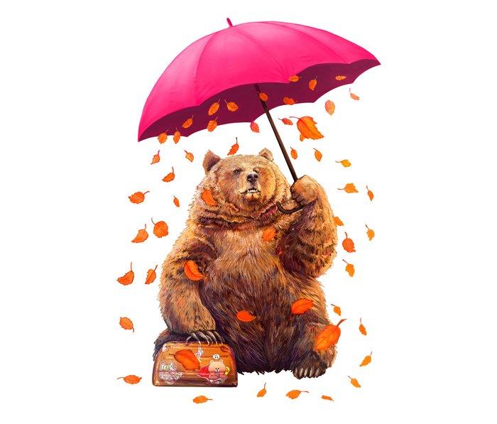 autumn bear Travel Mug