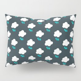 Rain Cloud Pattern Pillow Sham