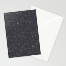 Rubber pup Tessellation Stationery Cards