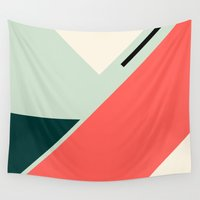 coco Wall Tapestries featuring Geo coco by Laura Moreau